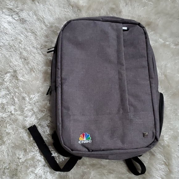 Unisex Gray CNBC Laptop Backpack